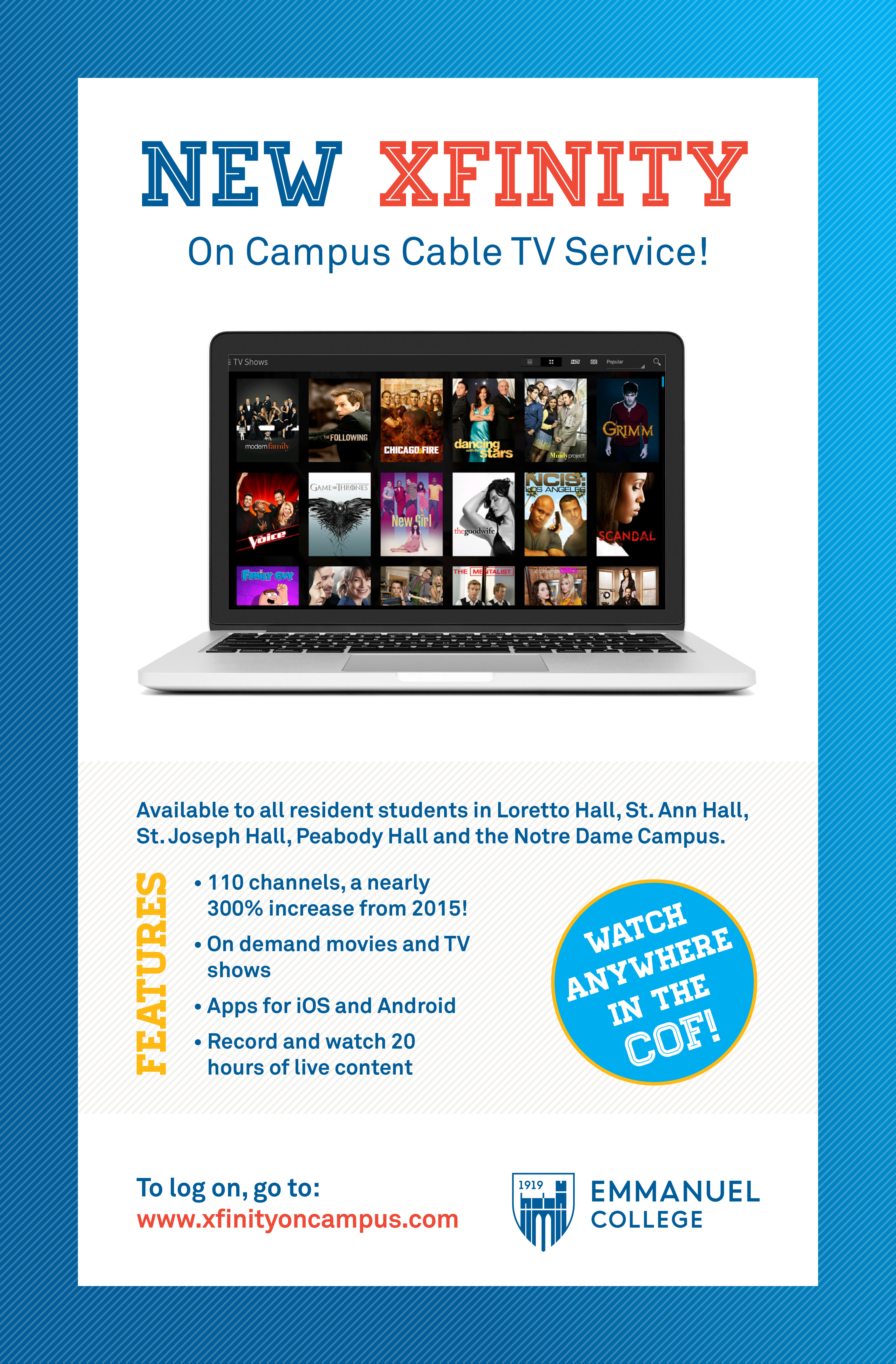 Cable TV | IT Services Catalog | Emmanuel College Boston