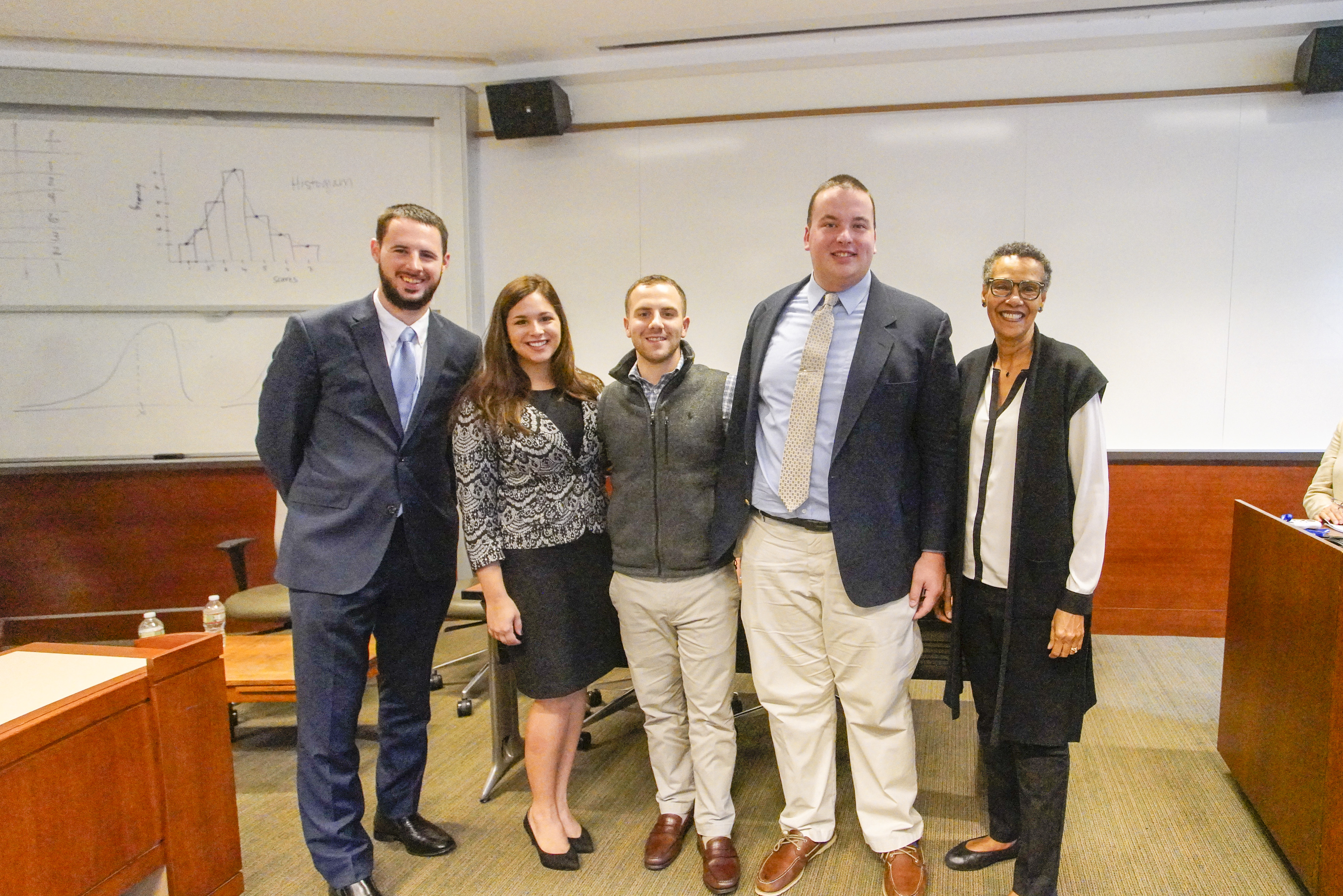 Emmanuel College law school alumni panel members