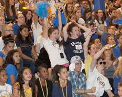 Saints Show their Blue and Gold at Midnight Madness
