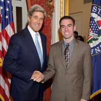 Chris Flanagan and Senator Kerry