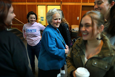 "The ""Heart and Soul"" of Emmanuel College: President Sister Janet Eisner, SNDdeN Featured in Boston Globe"